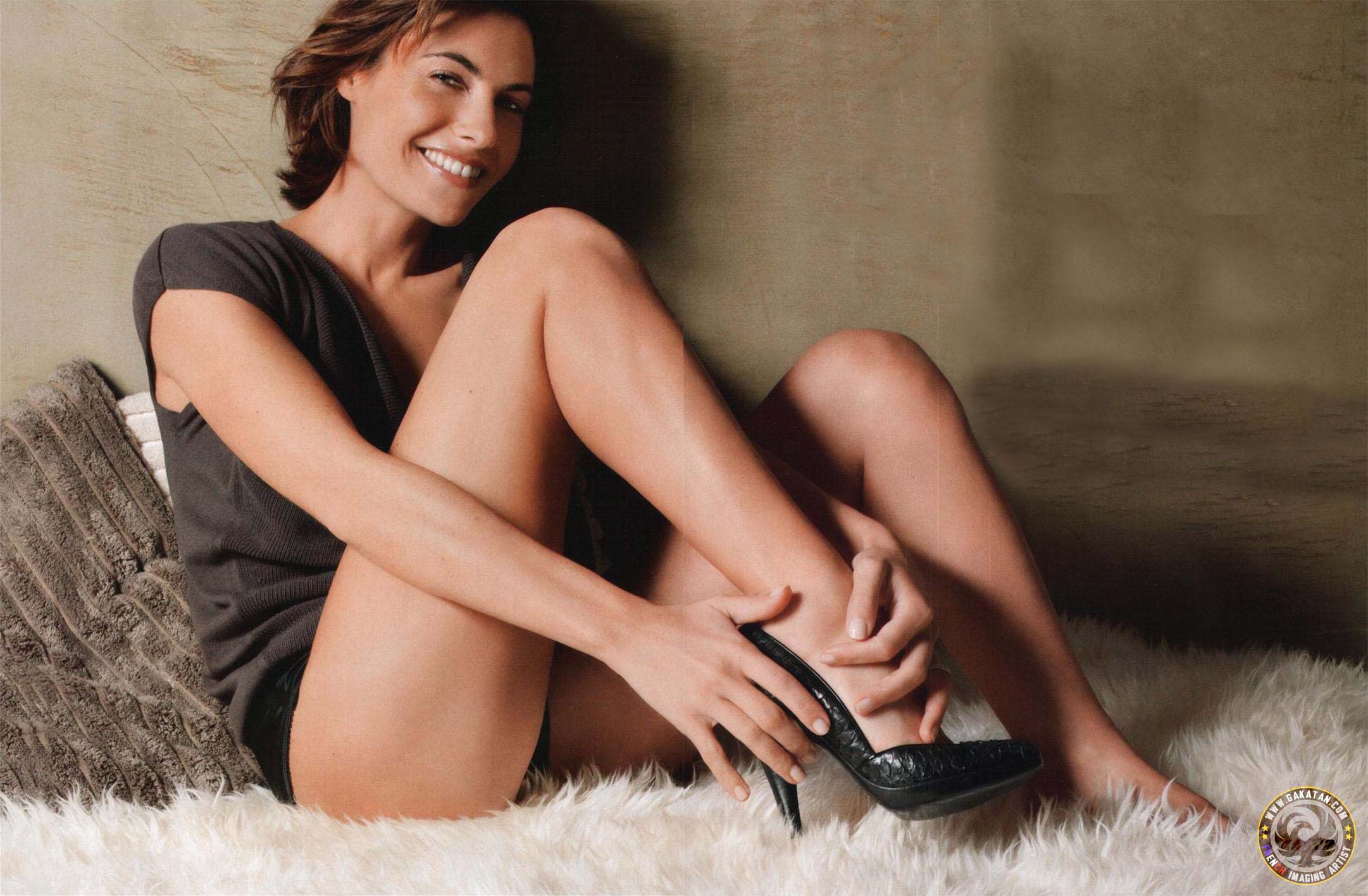 Alessandra Sublet en culotte et débardeur