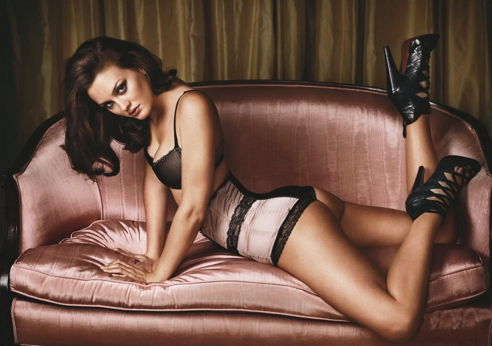 Leighton Meester en lingerie sexy