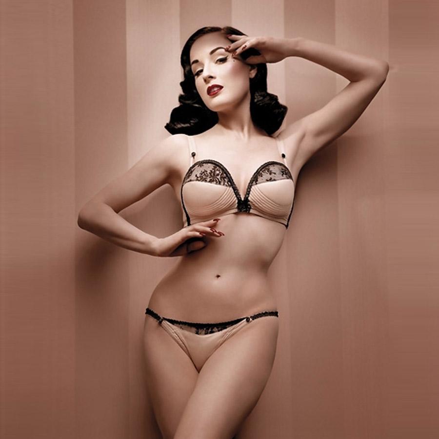 Dita Von Teese en lingerie