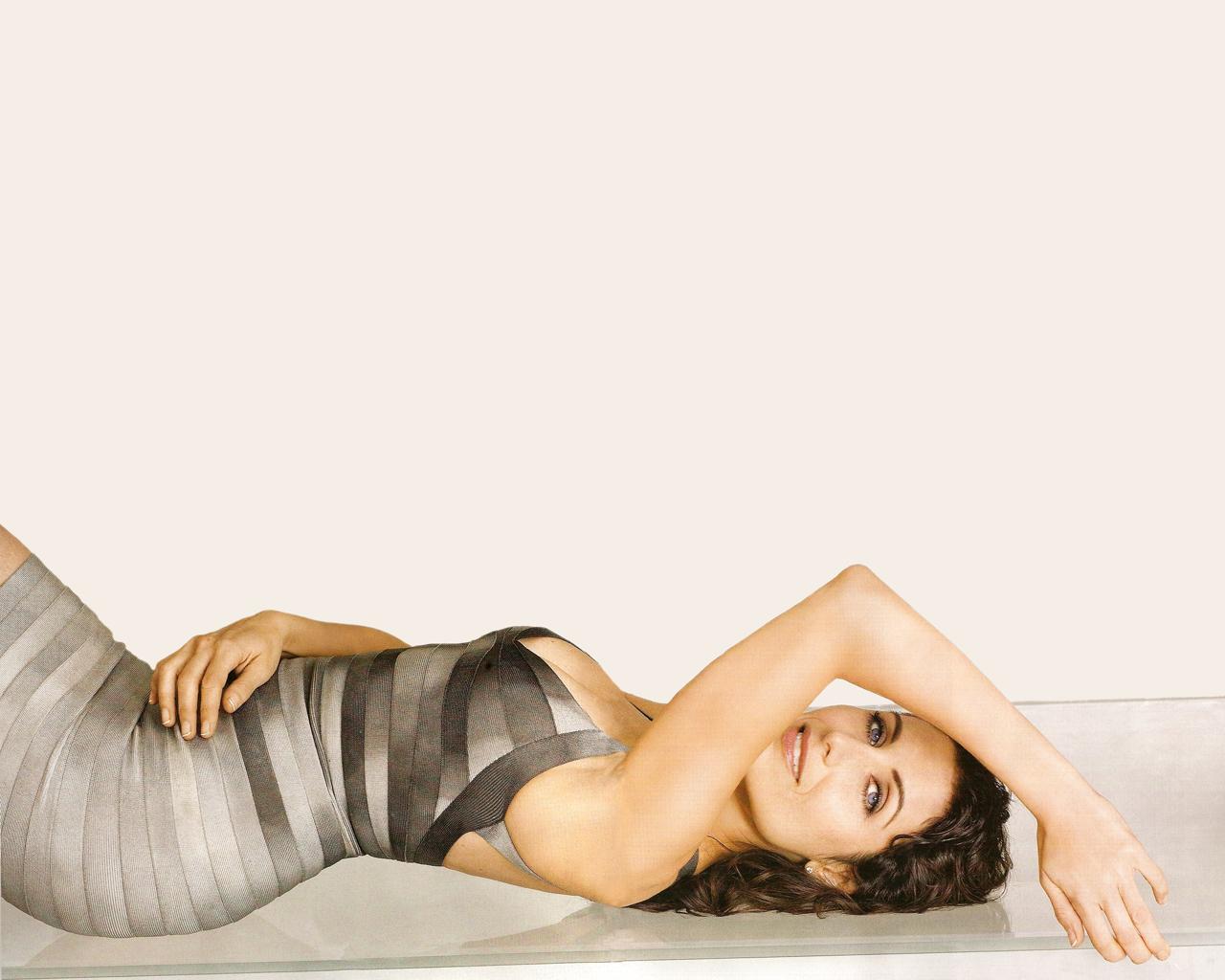 Lisa Edelstein en robe moulante