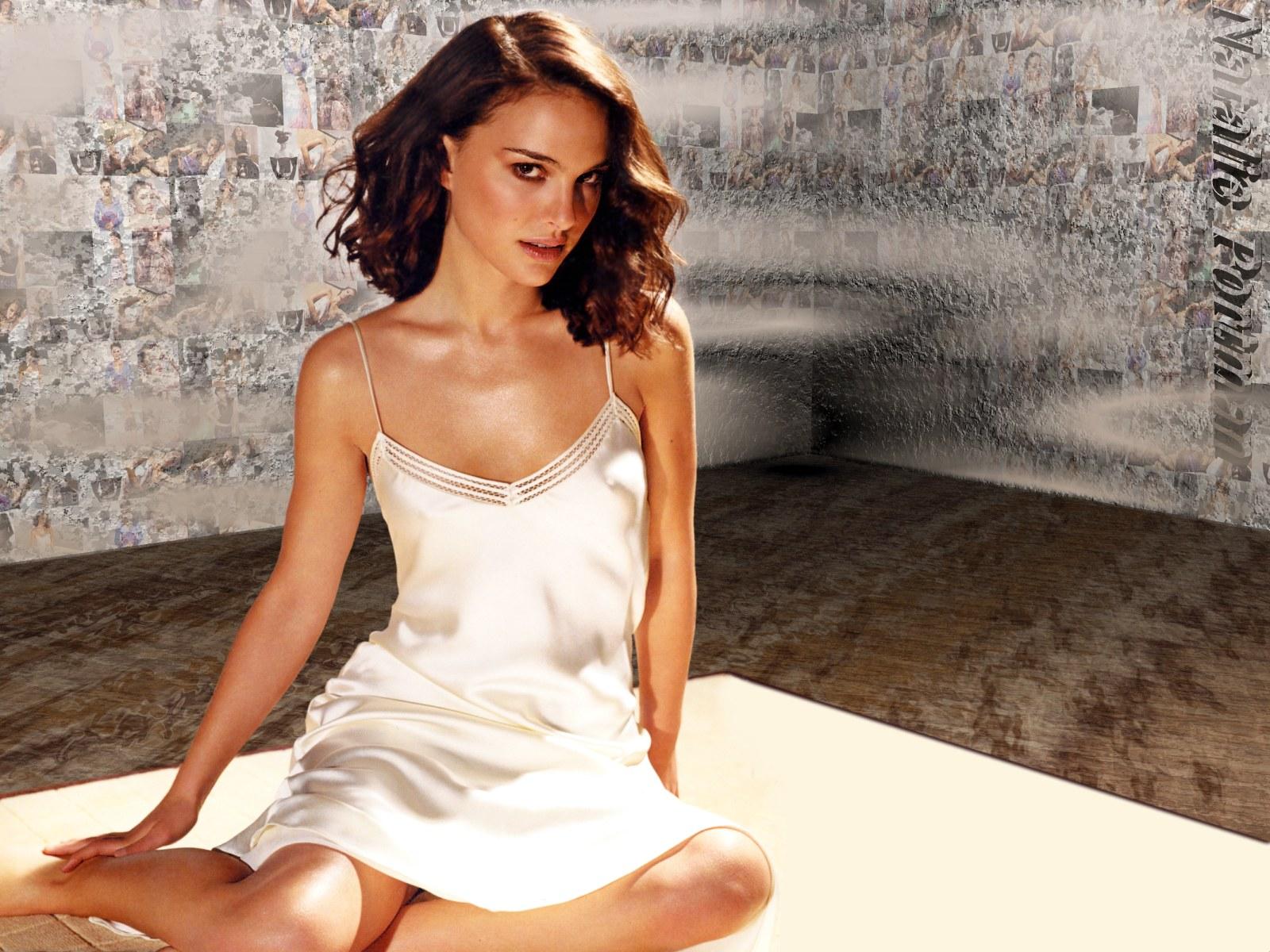Natalie Portman een nuisette décolletée