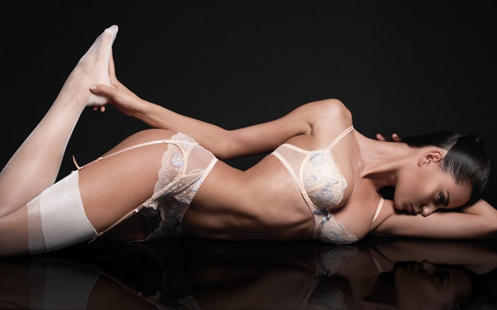 Catrinel Menghia en lingerie