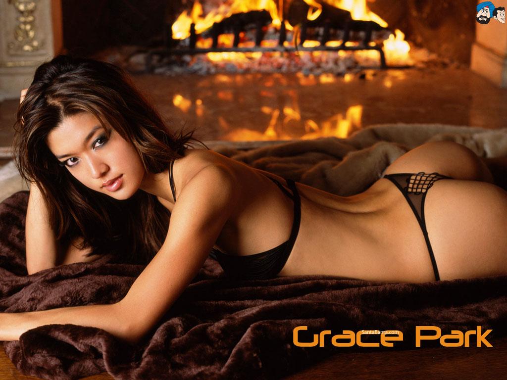 Grace Park en lingerie