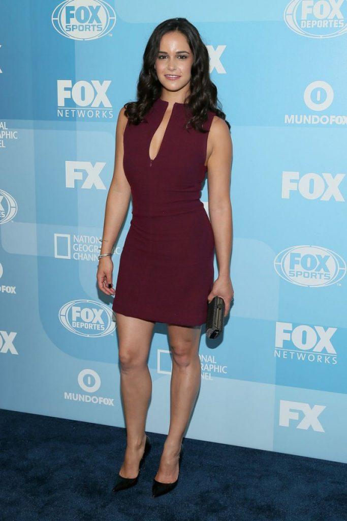 Melissa Fumero en mini-robe décolletée