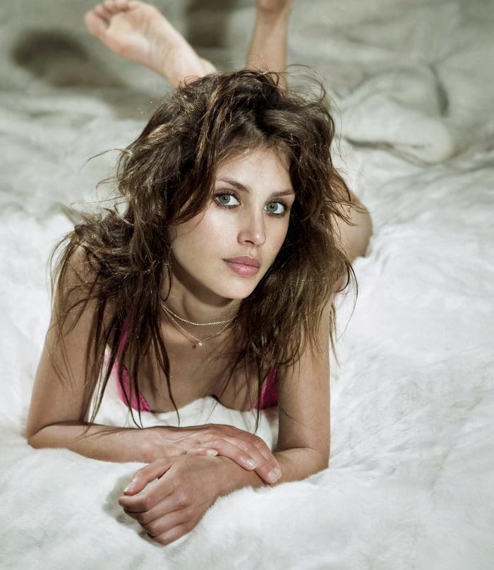Hannah Ware en lingerie