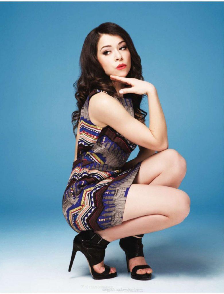Tatiana Maslany en mini-robe