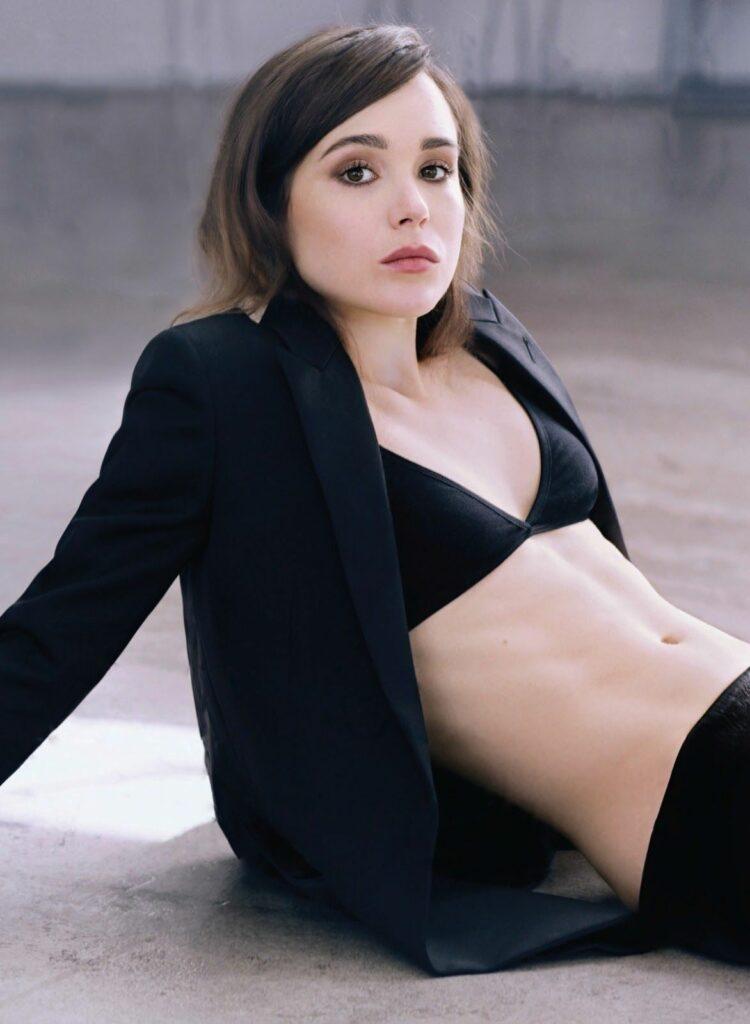 Ellen Page en soutien-gorge