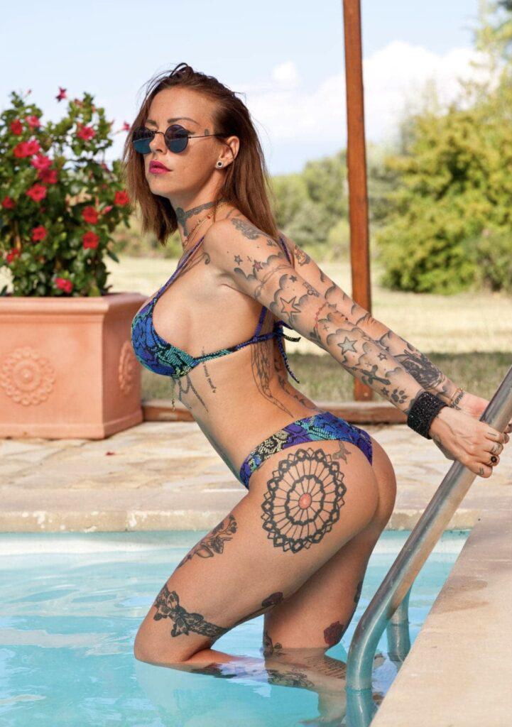 Eva Lange en bikini